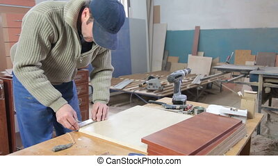 bois, fabrication, meubles