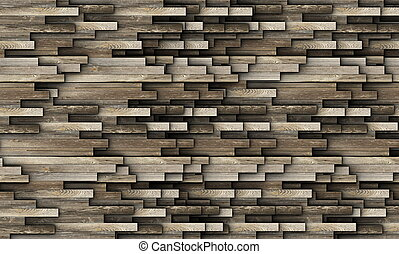bois, fait, vieux, planches, texture