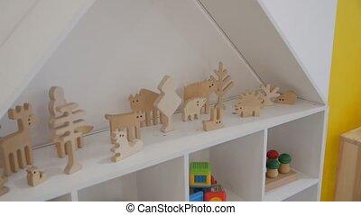 bois, figurines, animal