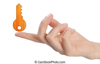 bois, fingertips., icônes