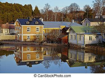 bois, finlande, porvoo, architecture