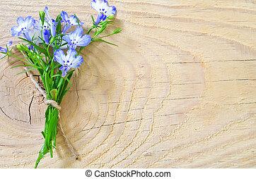 bois, fleurs, fond