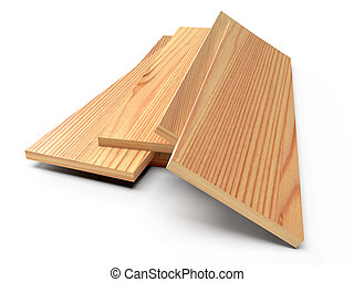 bois, floor., rendre, blanc, planches, 3d