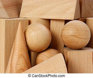 bois, formes, géométrique