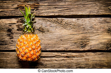 bois, frais, table, ananas