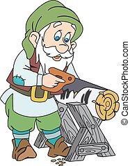 bois, gnome, scier