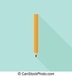 bois, graphite, dièse, crayon