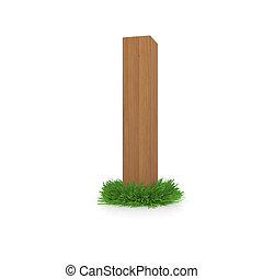 bois, herbe, lettre