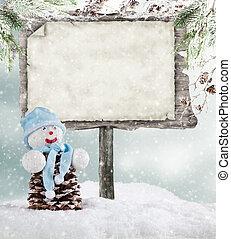 bois, hiver, humeur, vide, signe