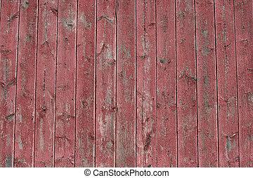 bois, image, arrière-plan rouge, grange