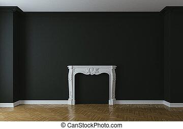 bois, intérieur, 3d, vide, plancher
