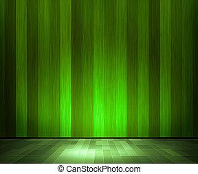 bois, intérieur, vert