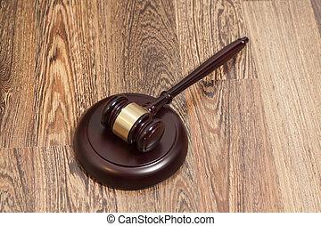 bois, juge, caisse de résonnance, marteau