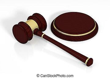 bois, juge, soundboard., marteau