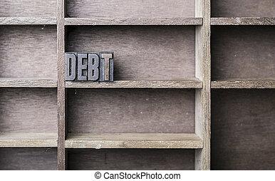 bois, lettre, dette
