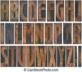 bois, lettres, coupure