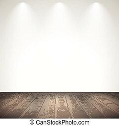 bois, lumière, salle