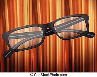 bois, lunettes, bureau