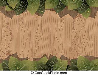 bois, luxuriant, barrière, feuillage