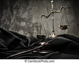 bois, marteau, manteau, juge, balances