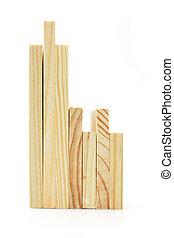 bois, modules, de, divers, tailles