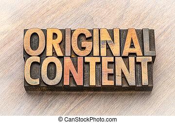 bois mot, asbtract, original, contenu, type