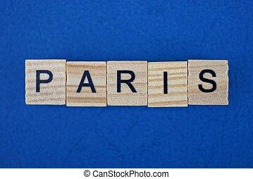 bois, mot, lettres, fait, paris