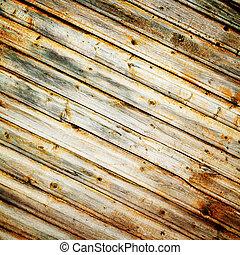 bois, mur, fond