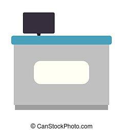 bois, ordinateur portable, bureau bureau
