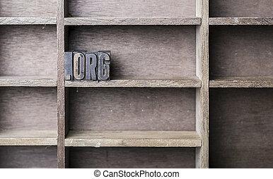 bois,  org, lettre