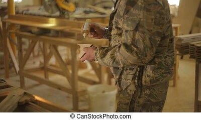 bois, ouvrier, produit, charpentier, partie, applique,...
