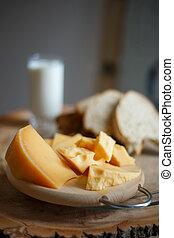 bois, panneau fromage