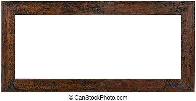 bois, panoramique, cadre, coupure