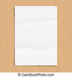 bois, papier, feuille, vide, fond