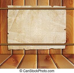 bois, papier, vieux, fond