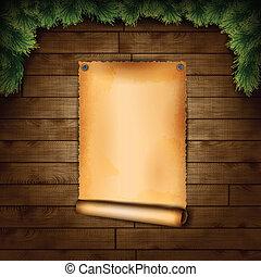 bois, papier, vieux, texture