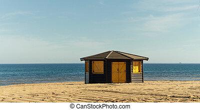 bois, plage, structure