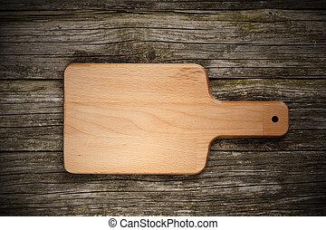 bois, planche découper, fond