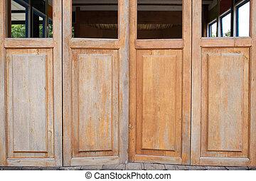 bois, porte, grange