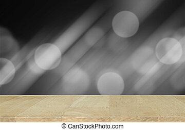 bois, résumé, gradient, gris, brouillé, arrière-plan., bureau