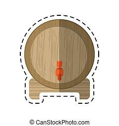 clipart vecteur de baril bois dessin anim ic ne bois dessin anim fond csp33540712. Black Bedroom Furniture Sets. Home Design Ideas