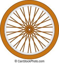 bois, roue, vélo