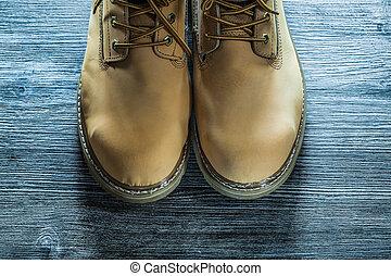 bois, sécurité, planche, bottes