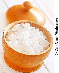 bois, sucre blanc, vase