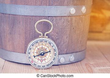 bois, table., compas, classique