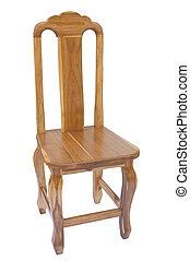 bois, teak, chaise
