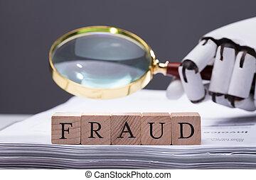 bois, texte, fraude, bloc, facture