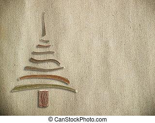bois, toile, arbre, noël