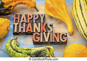 bois, type, thanksgiving, heureux