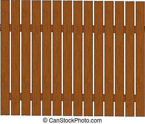 bois, vecteur, -, barrière